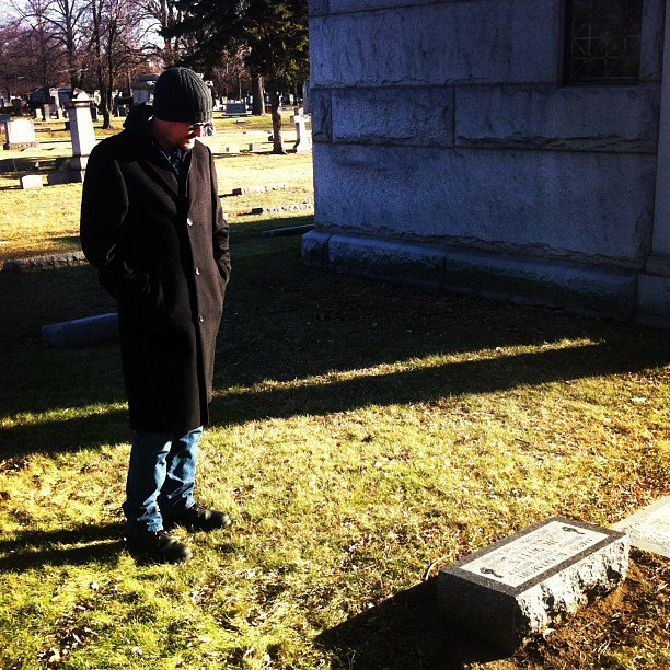Graveside of Mr. Junior Wells