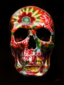 70s-Floral-Skull-by-Gerrard-King